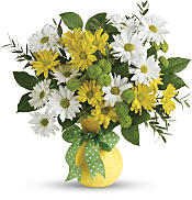 Daisies And Dots Bouquet Flowers